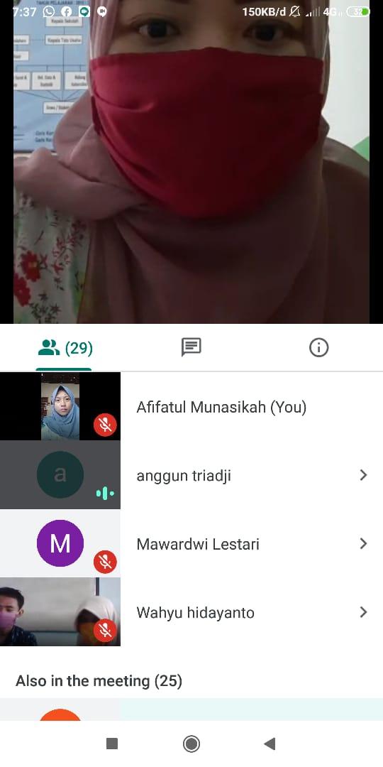 SMKM 01 Blitar Melaksanakan FORTASI Online
